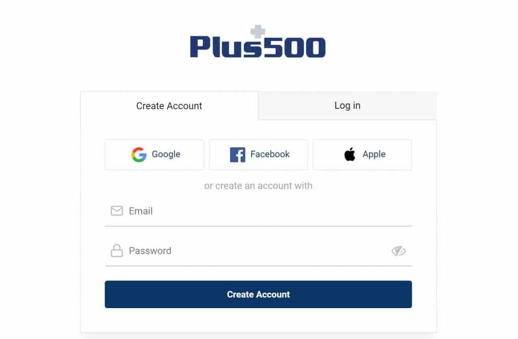 Jak otevřít účet v Plus500?