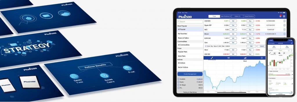 Mobilní možnosti pro obchodníky Plus500