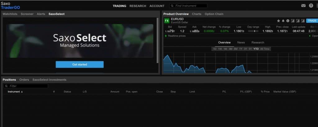 Saxo Trader Go - Saxo Bank trading platform