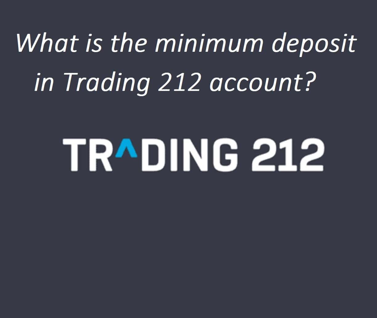 What is the Trading 212 minimum deposit as a new customer