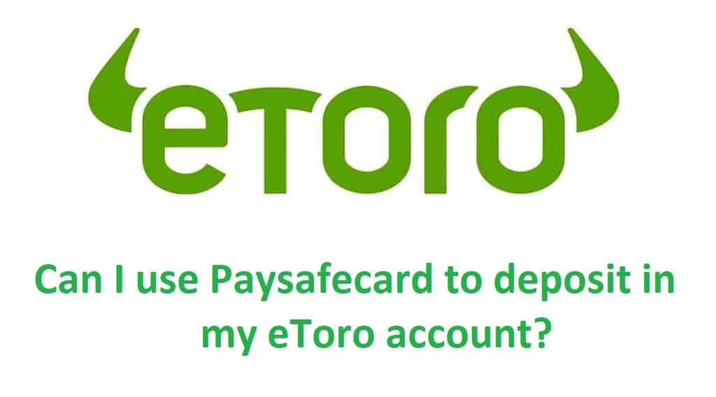 eToro Paysafecard Deposit