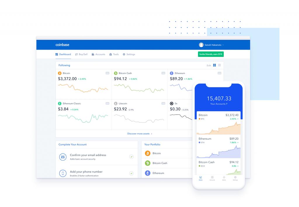 Coinbase interface